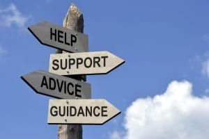 Signpost for help, support advice and guidance