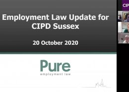 Image of a Zoom presentation to Sussex CIPD